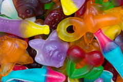 Jelly sweets. Unhealthy jelly sweets full of food colorants Royalty Free Stock Photos