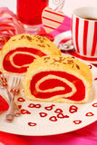 Jelly swiss roll Stock Image