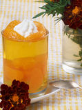Jelly with tangerines Stock Photo