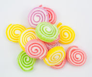 Jelly twist. Sweet background with colorful jelly twist stock photos