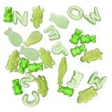 jelly wibrująca candy zielone Fotografia Royalty Free