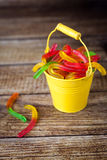 Jelly worms candies Stock Image