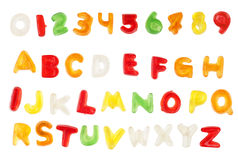 Jellybean alphabet Royalty Free Stock Photography