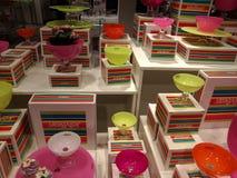 JellyBean bowls at a shop Royalty Free Stock Photos