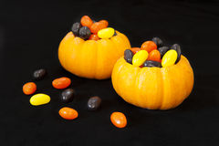 Jellybean filled pumpkins Stock Photos