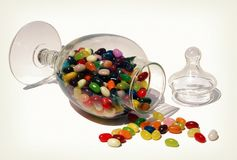 Jellybean jar Royalty Free Stock Images