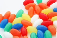 Jellybeans. Colorful jellybean candy on white background Royalty Free Stock Photography