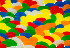 Jellybeans. Background of colorful jelly beans candy from a hight angle view Stock Photos