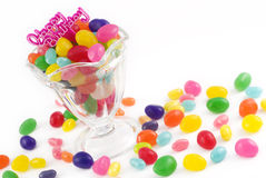Jellybeans del feliz cumpleaños Imagenes de archivo