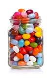 Jellybeans en un tarro Imagenes de archivo