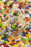 Jellybeans With A Full Jar Royalty Free Stock Image