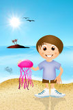 Jellyfish on the beach Royalty Free Stock Photo