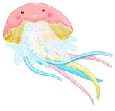 Jellyfish cartoon character Stock Photos