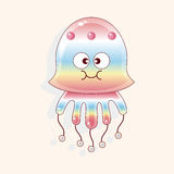 Jellyfish cartoon theme elements vector,eps Royalty Free Stock Photography