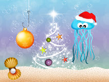 Jellyfish at Christmas Stock Image
