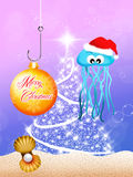 Jellyfish at Christmas Royalty Free Stock Photography