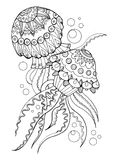 Jellyfish coloring book vector illustration Stock Image