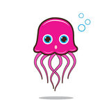 Jellyfish cute cartoon Royalty Free Stock Images