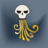 Jellyfish czaszka Obrazy Stock