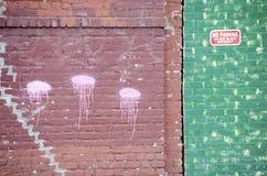 Jellyfish graffiti Obrazy Royalty Free