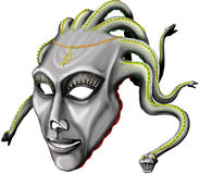 Jellyfish helmet. Illustration. (mythical creation Royalty Free Stock Images