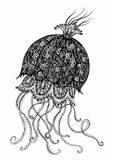 Jellyfish Ink Illustration Stock Photo