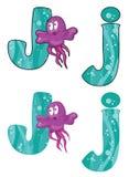 Jellyfish γραμμάτων J Στοκ Εικόνες