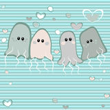 Jellyfish in love Stock Images