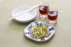 Jellyfish sałatka i Shaoxing wino Fotografia Stock