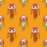 Jellyfish seamless pattern. Original design for print or digital media Royalty Free Stock Photography