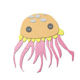Jellyfish tissue papercraft Stock Images
