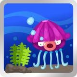 Jellyfish underwater Royalty Free Stock Image