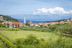 Jelsa miasteczko, Hvar wyspa, Chorwacja Zdjęcia Royalty Free