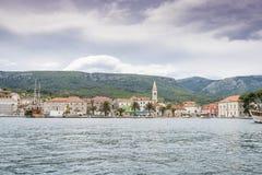 Jelsa miasteczko, Hvar wyspa, Chorwacja Zdjęcie Royalty Free