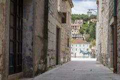 Jelsa miasteczko, Hvar wyspa, Chorwacja Obrazy Royalty Free