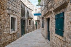Jelsa miasteczko, Hvar wyspa, Chorwacja Obraz Royalty Free