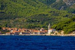 Jelsa miasteczko na Hvar wyspie, Chorwacja Zdjęcie Royalty Free