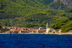 Jelsa town on Hvar island, Croatia Royalty Free Stock Photo