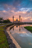 Jelutong mosque during sunrise. This mosque among the big mosque in shah alam, selangor, malaysia Royalty Free Stock Image