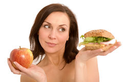 jem hamburgera kobieta Obraz Royalty Free