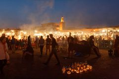 Jema El Fnaa square in Marrakesh 02 stock photography