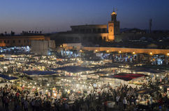 Jemaa el Fna in Marrakesh Stock Image