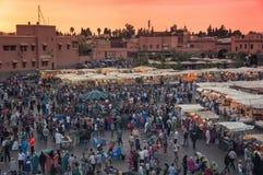 Jemaa el Fna in Marrakesh Royalty Free Stock Photo
