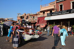 Jemaa el fna square Royalty Free Stock Image
