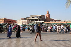 Jemaa el fna square Royalty Free Stock Images