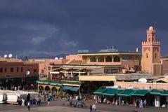 Jemaa el Fna Square in Marrakesh, Morocco Stock Image