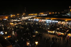 Jemaa el fna square by night Royalty Free Stock Photo