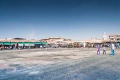 Jemaa el-Fnaa fyrkant Royaltyfria Foton