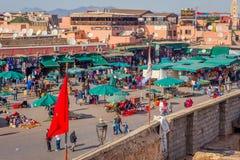 Jemaa el-Fnaa fyrkant, Marrakech Royaltyfria Bilder