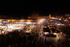 Jemaa el-Fnaa market place in Marrakesh, Morocco Stock Photography